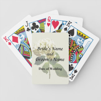 Single White Hydrangea Bicycle Playing Cards