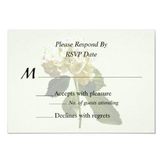 Single White Hydrangea Card