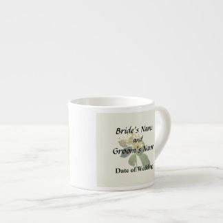 Single White Hydrangea Espresso Cup
