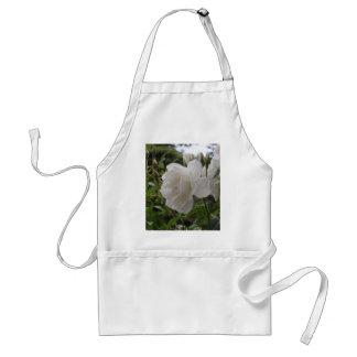 Single White Rose Aprons