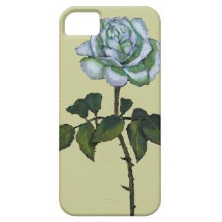 Single White Rose: Color Pencil Art: Floral iPhone SE/5/5s Case