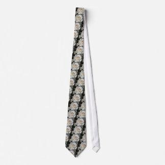 Single white rose flower in spring tie