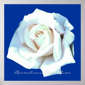 Single White Rose Poster