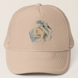 Single White Rose Trucker Hat