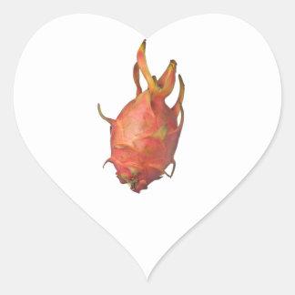 Single whole dragonfruit heart sticker