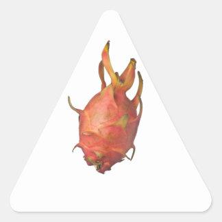 Single whole dragonfruit triangle sticker