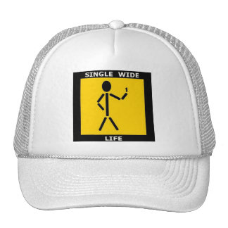 SINGLE WIDE LIFE LOGO Golf Cap Trucker Hat
