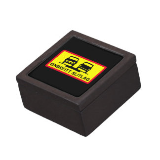 Single-Width Surface, Traffic Sign, Iceland Jewelry Box