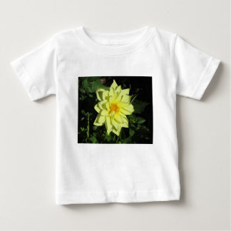 Single yellow dahlia flower in spring baby T-Shirt