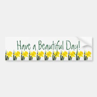 Single Yellow Narcissus Daffodil Bumper Sticker