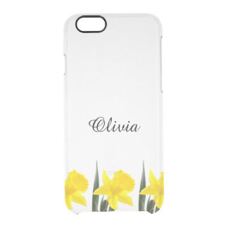 Single Yellow Narcissus Daffodil Clear iPhone 6/6S Case