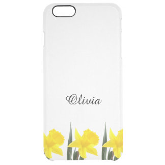 Single Yellow Narcissus Daffodil Clear iPhone 6 Plus Case