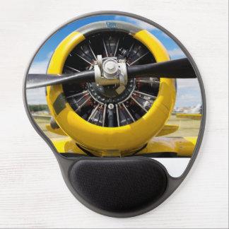 Single Yellow Prop Plane Propeller Closeup Gel Mouse Pad