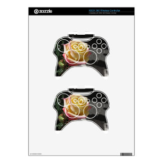 Single yellow rose flower in spring xbox 360 controller skins