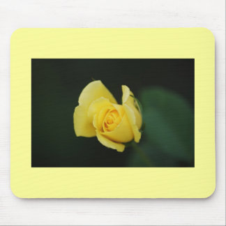 Single Yellow Rose Mouse Pad