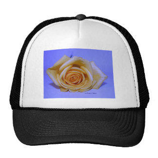 Single Yellow Rose Pale Blue background Trucker Hat