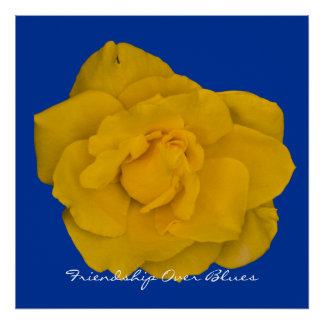 Single Yellow Rose Print