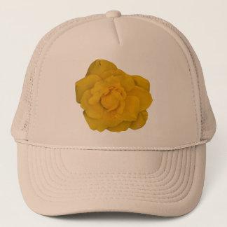 Single Yellow Rose Trucker Hat