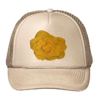 Single Yellow Rose Trucker Hat