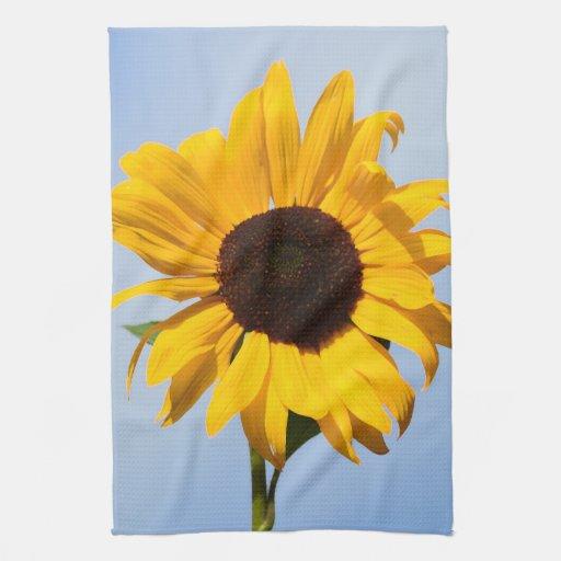 Sunflower Yellow Kitchen: Single Yellow Sunflower Kitchen Towels