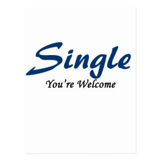 Single, You're Welcome Postcard