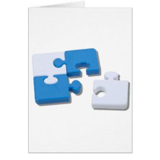 SingledPiecePuzzle101310 Tarjeta De Felicitación