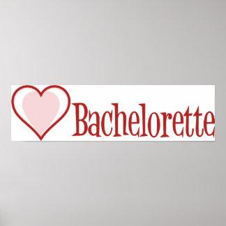 SingleHeart-Bachelorette-Rojo Póster