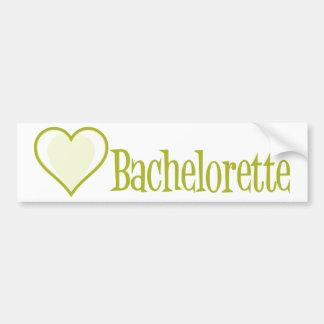 SingleHeart-Bachelorette-Ylw Bumper Sticker