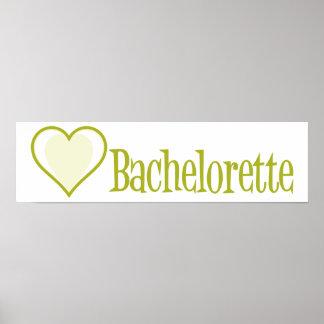 SingleHeart-Bachelorette-Ylw Póster