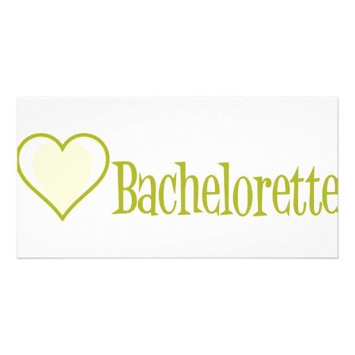 SingleHeart-Bachelorette-Ylw Tarjetas Fotograficas