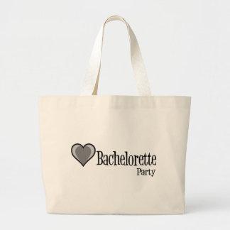 SingleHeart-BacheloretteParty-Blk Jumbo Tote Bag