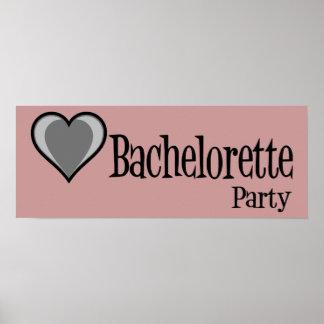 SingleHeart-BacheloretteParty-Blk Poster