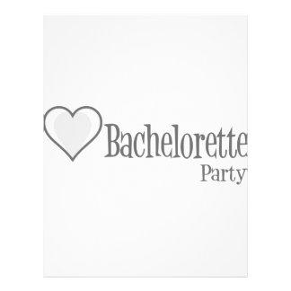 SingleHeart-BacheloretteParty-Grey Personalized Flyer