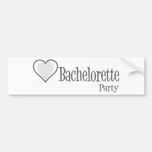SingleHeart-BacheloretteParty-Gris Pegatina Para Auto