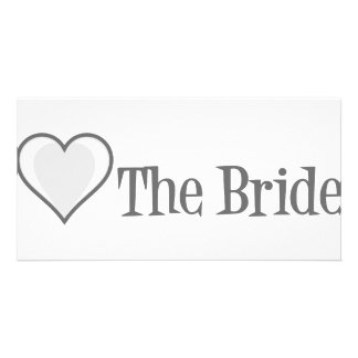SingleHeart-Bride-Grey Card