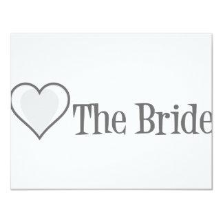 SingleHeart-Bride-Grey Invite
