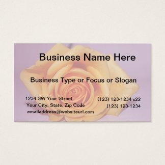SingleRosePalePurpleBack Business Card
