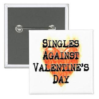 Singles Against Valentine's Day Pinback Button