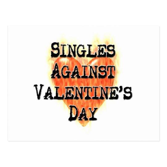 Singles Against Valentine's Day Postcard