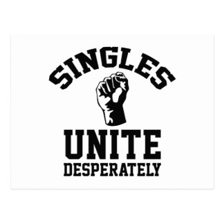 Singles Unite Desperately Postcard