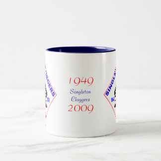 Singleton Cloggers 60th Badge Two-Tone Coffee Mug