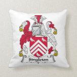 Singleton Family Crest Pillow