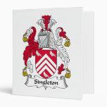 Singleton Family Crest Vinyl Binders