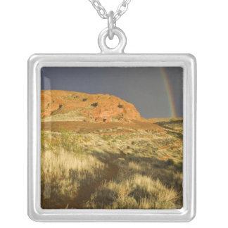 Singletrack at Red Cliffs Desert Preserve near Square Pendant Necklace