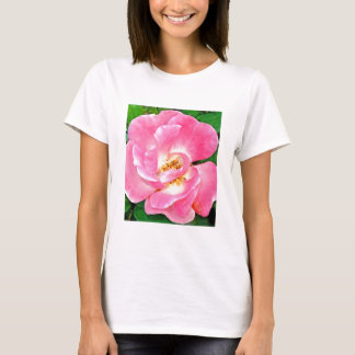 Singular Beauty Lush Pink Rose T-Shirt