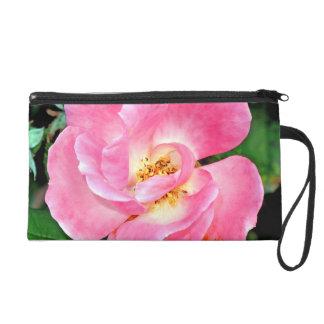 Singular Beauty Lush Pink Rose Wristlet