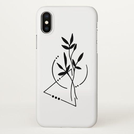 Singular Flower iPhone X Case