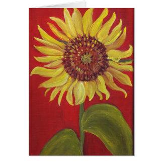 Singular Sunflower Card