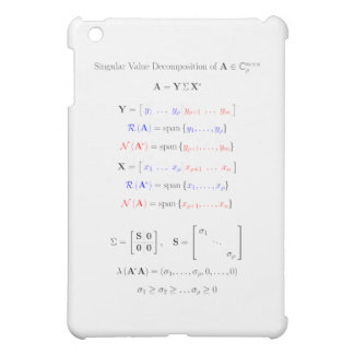 Singular value decomposition into subspaces iPad mini cover