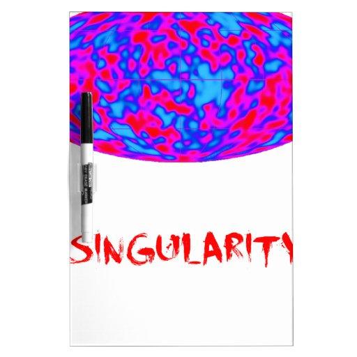 singularidad con universo de la microonda pizarra